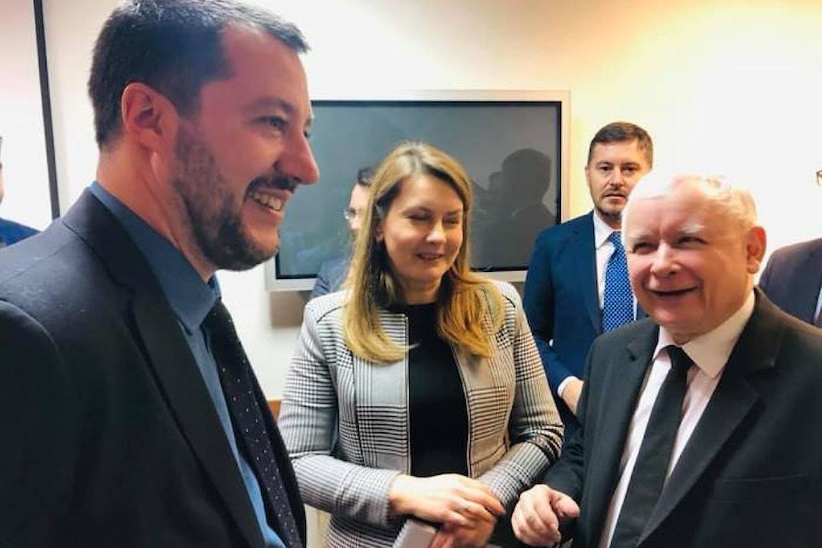 Salvini, dalla Polonia con furore
