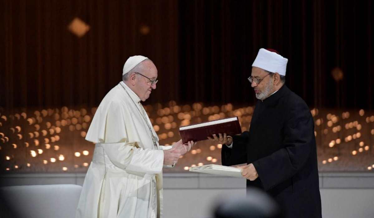 Papa Francesco e il Grande Imam di Al-Azhar firmano il Documento sulla Fratellanza Umana