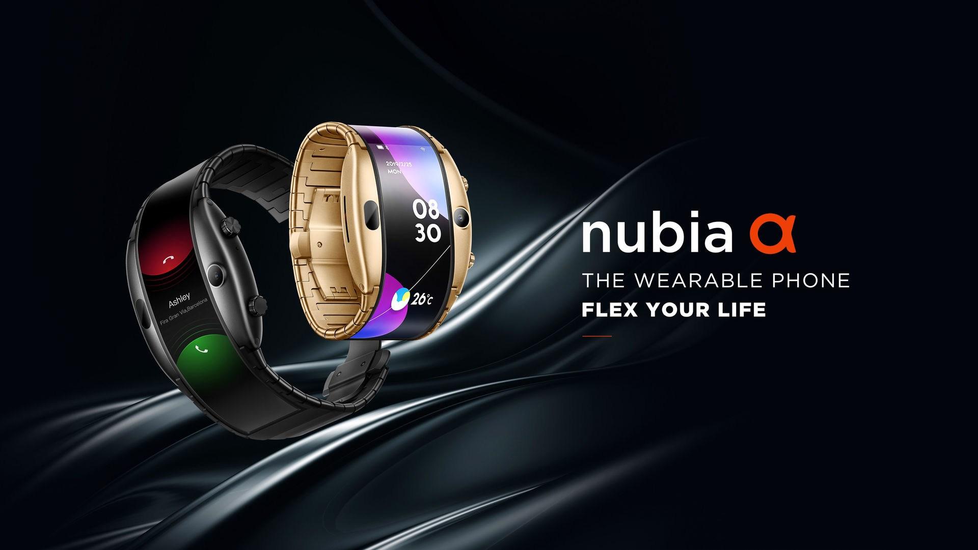 Nubia Alpha presentato ufficialmente: lo smartphone con display flessibile che si sente uno smartwatch