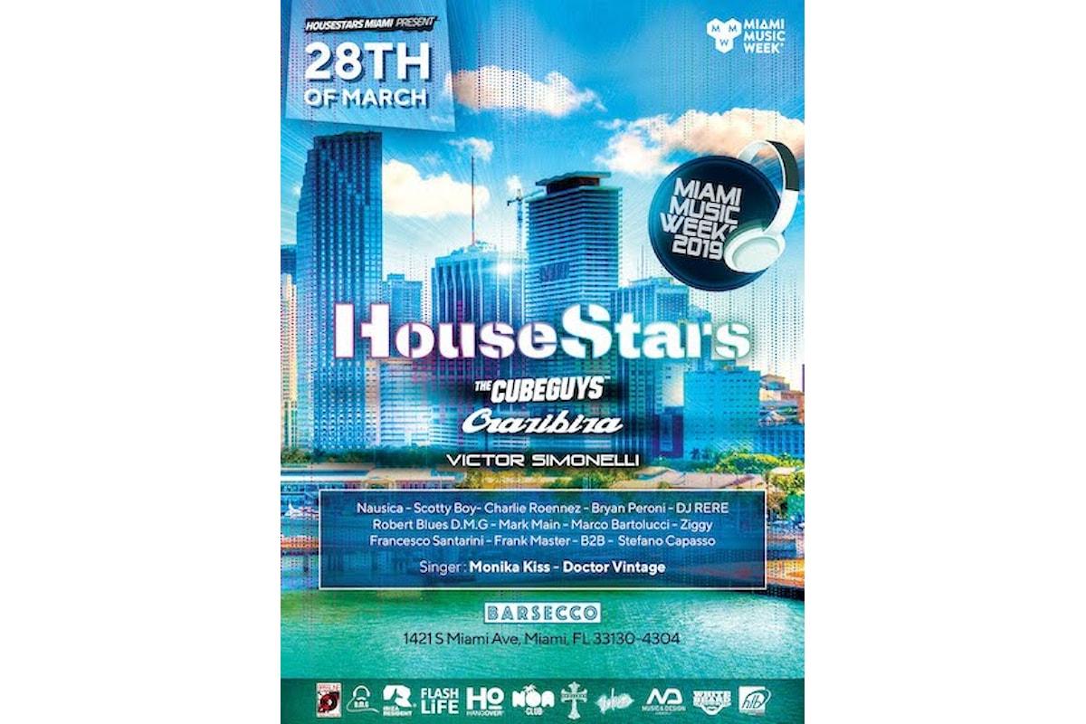 House Stars Miami by Monika Kiss: il 28 marzo alla Miami Music Week di Barsecco con The Cube Guys, Crazibiza, Victor Simonelli