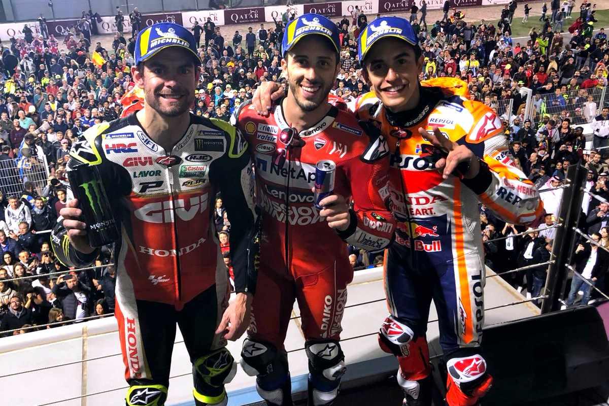 MotoGP 2019, in Qatar Dovizioso vince davanti a Marquez