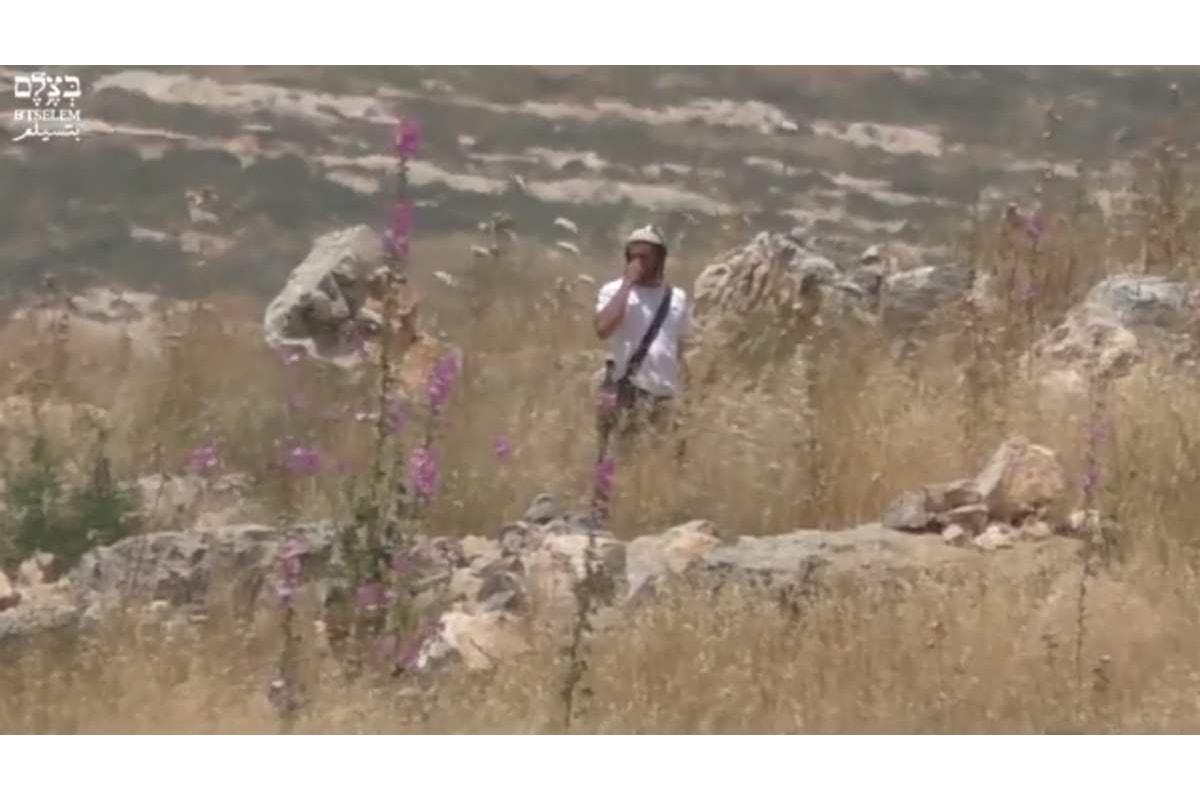 L'esercito israeliano protegge i coloni che danno fuoco a dei campi in Cisgiordania ed incolpa i palestinesi degli incendi