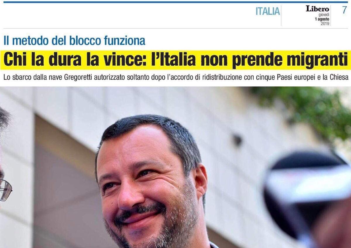 Salvini ha sbarcato anche in Italia i migranti della Gregoretti