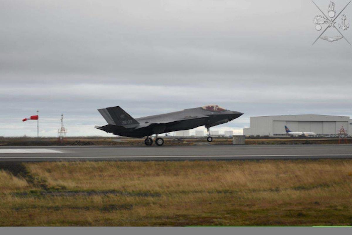 Islanda: nell'operazione NATO Nothern Lightning militari italiani primi ad impiegare F-35