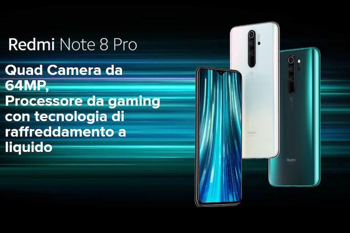 Redmi Note 8 Pro arriva in Italia: lo smartphone da gaming di fascia media con quadrupla fotocamera da 64MP