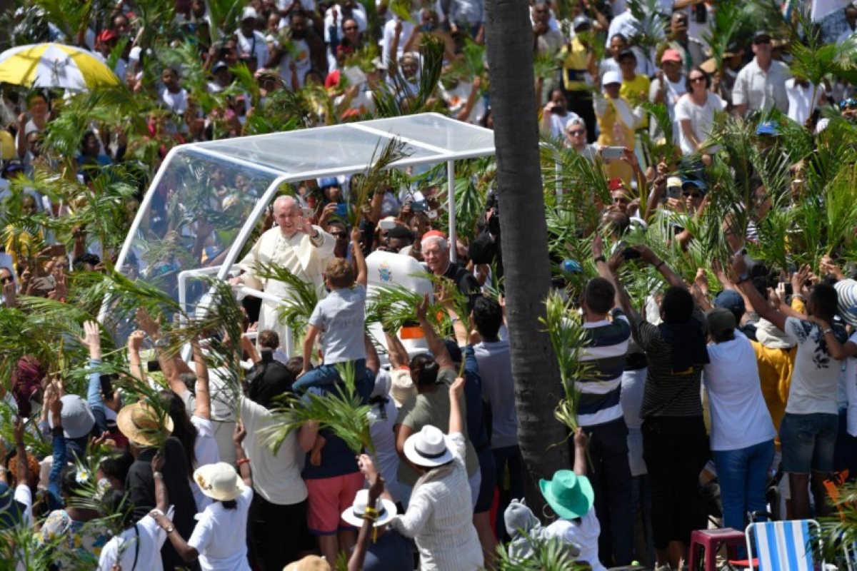 Le isole Mauritius sono state l'ultima tappa del viaggio apostolico in Africa di papa Francesco