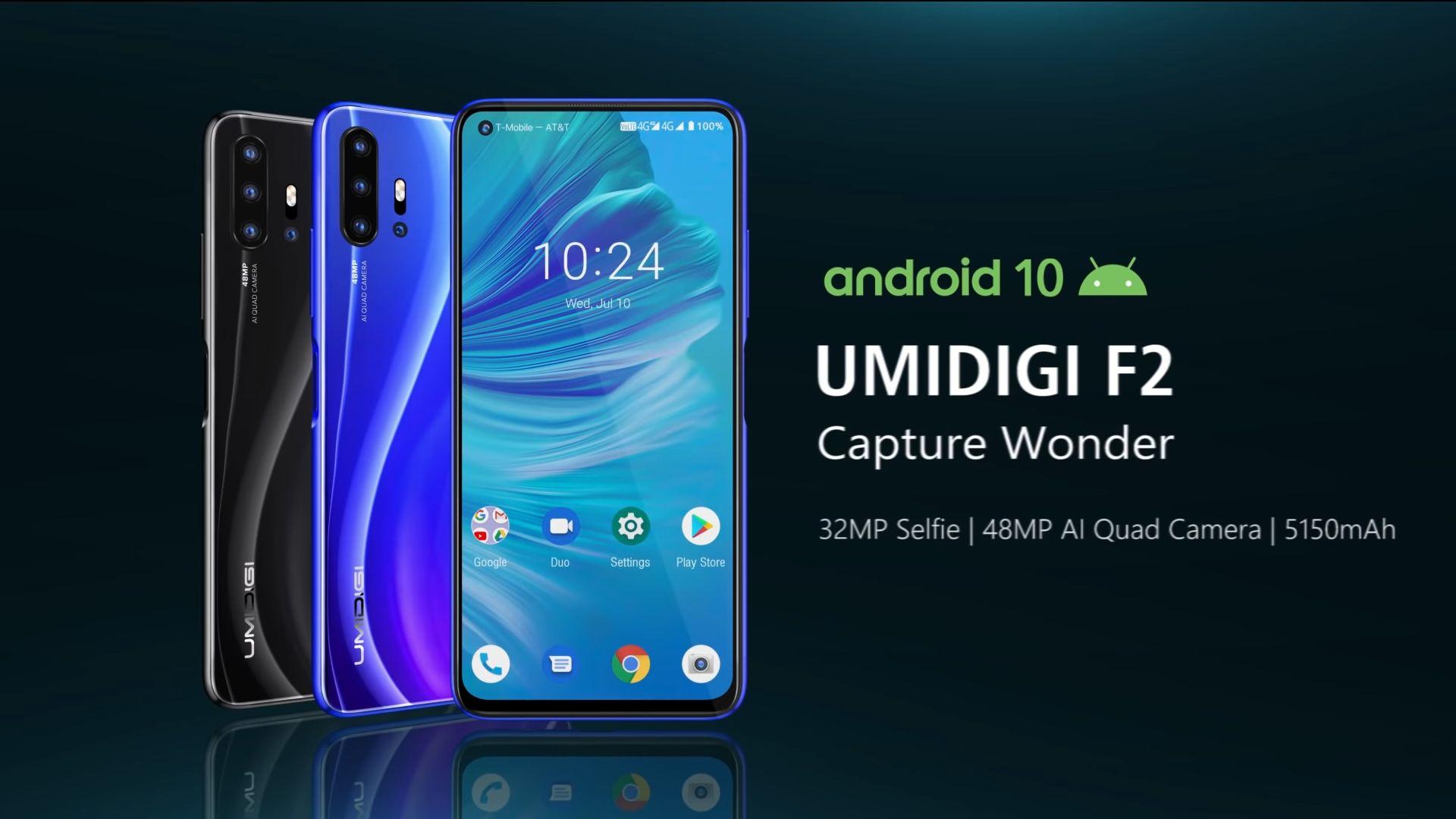 UMIDIGI F2 presentato ufficialmente: uno smartphone con 4 fotocamere, super batteria, Android 10 e display con foro