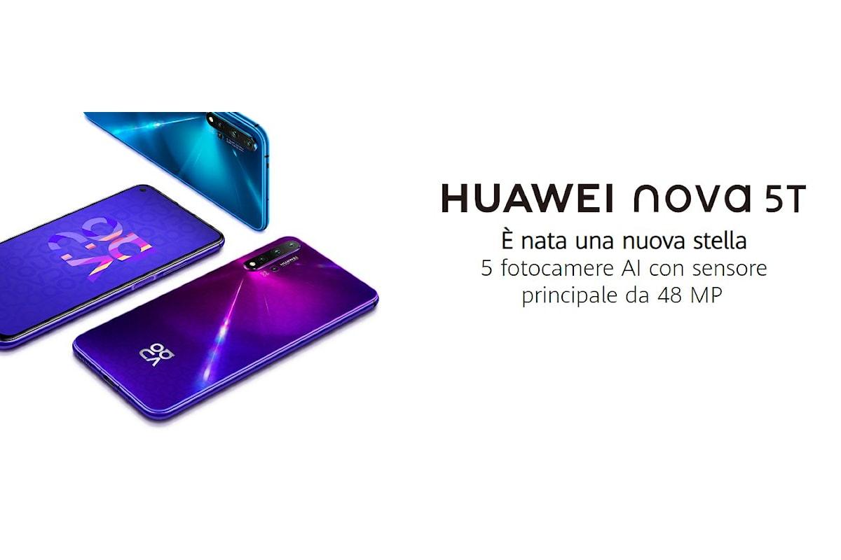 Huawei Nova 5T è stato presentato ufficialmente in Italia: un nuovo smartphone top di gamma con foro nel display