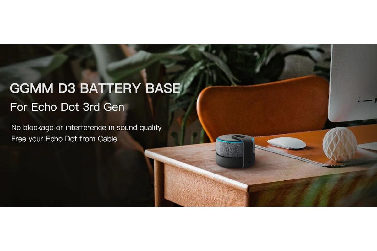 Recensione GGMM D3: con questo dispositivo è possibile rendere portatile l'Amazon Echo Dot