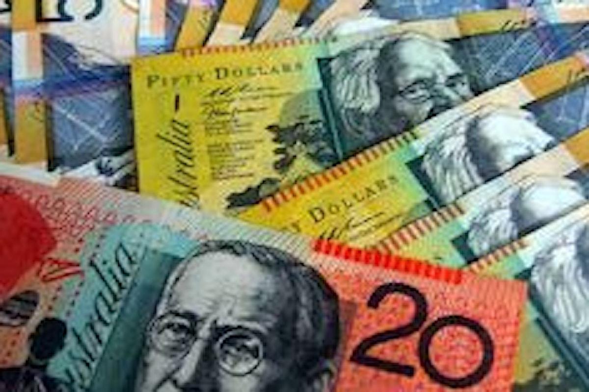 Mercati valutari, giornata deludente per il dollaro dell'Australia