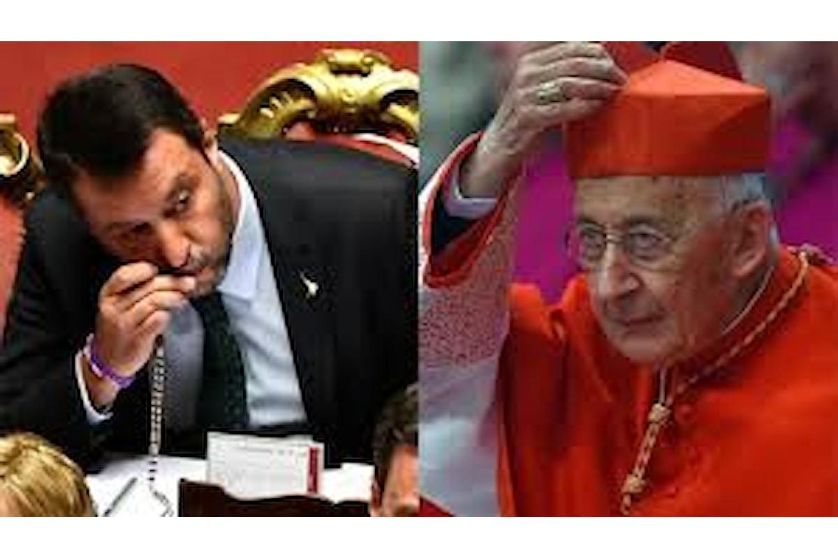 Il no ai preti sposati di Ruini ha argomenti debolucci. Il sostegno a Salvini, quando appare vincitore nei sondaggi, criticato come cedimento allo spirito del tempo