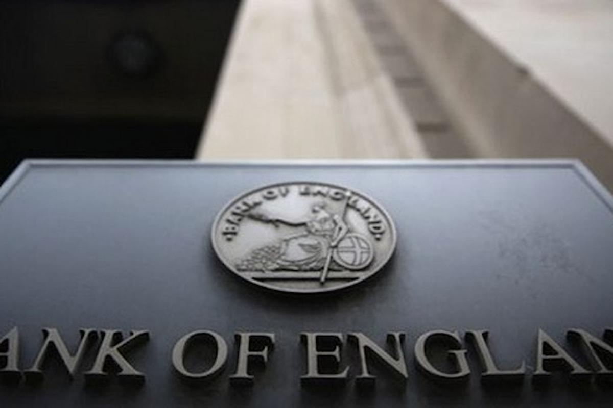 Costo del denaro, la Bank of England conferma lo 0,75%