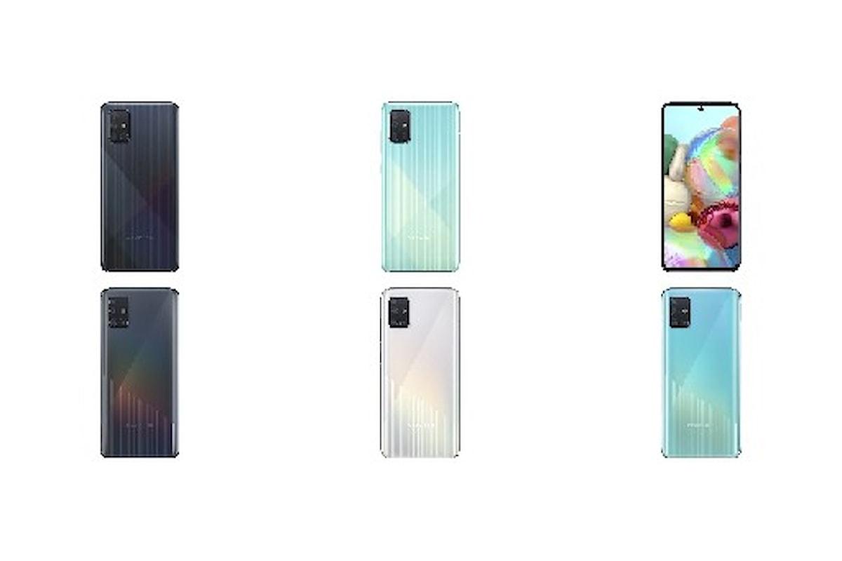 Samsung Galaxy A71 e Galaxy A51 presentati ufficialmente: puntano tutto sul display, sull'autonomia e sulle 4 fotocamere
