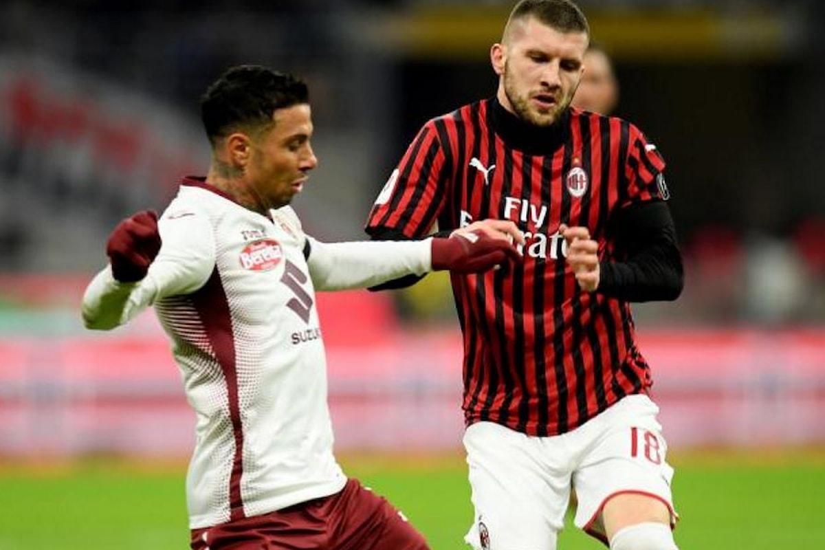 Il Milan infila la quarta vittoria di fila e supera per 4-2 il Torino nei quarti della Coppa Italia