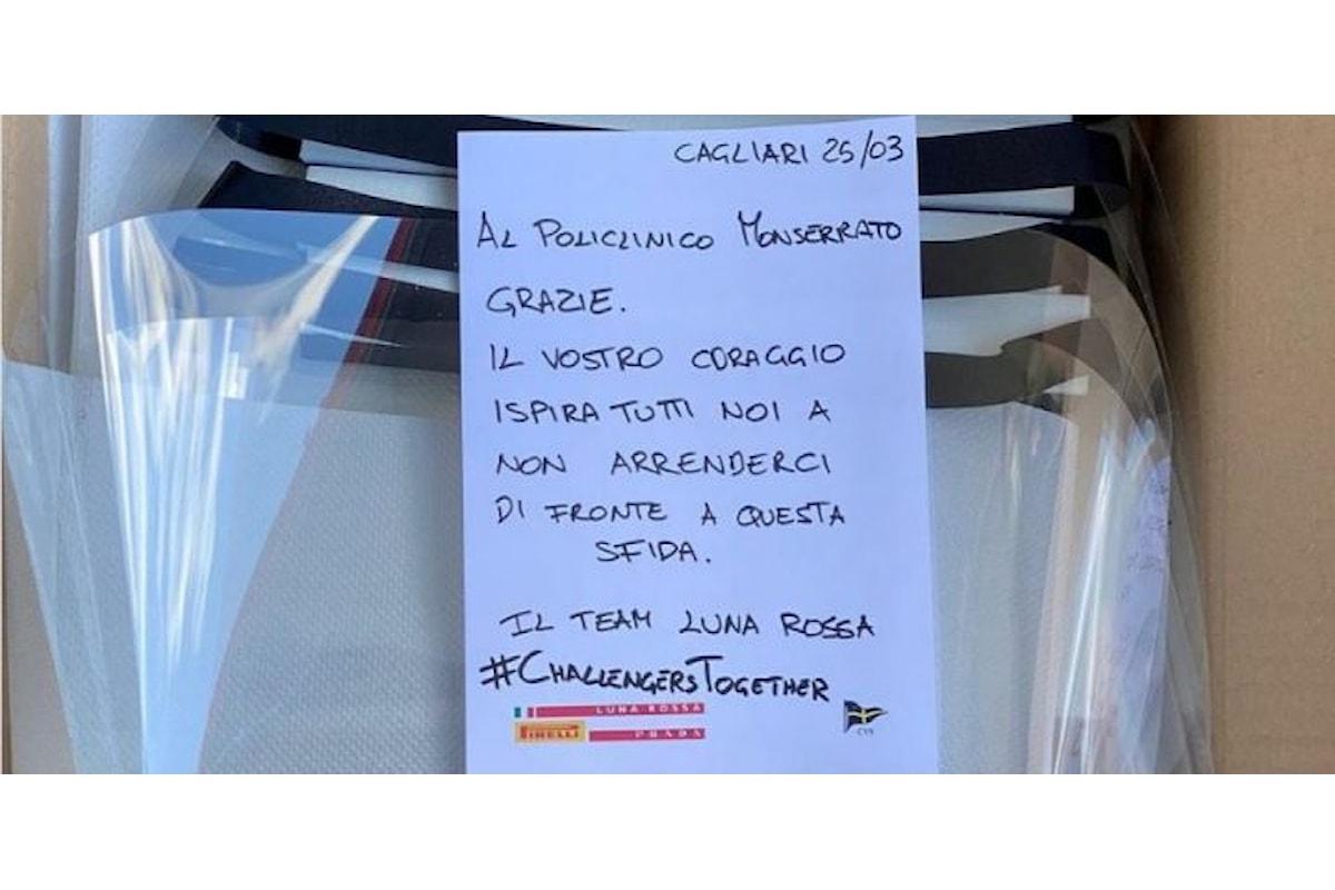 Luna Rossa Prada Pirelli Team realizza e dona maschere protettive agli ospedali di Cagliari