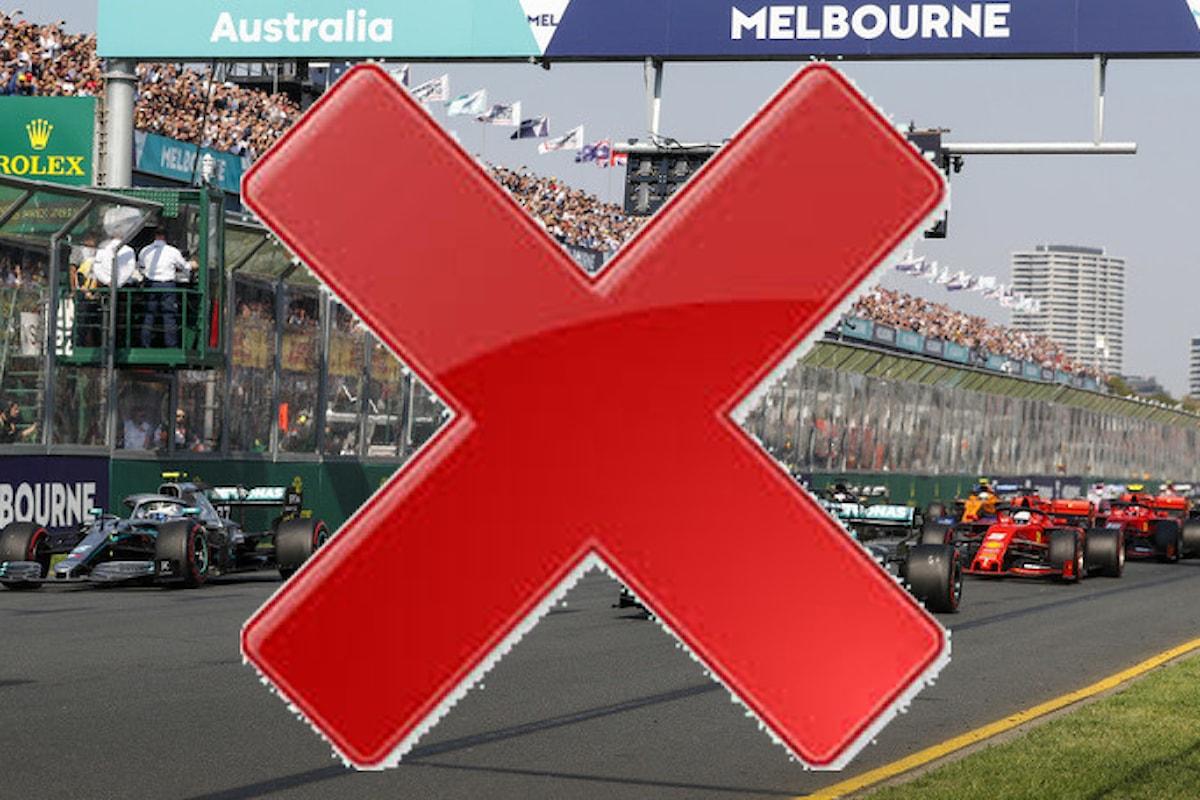 F1, sospeso il GP di Australia per il coronavirus