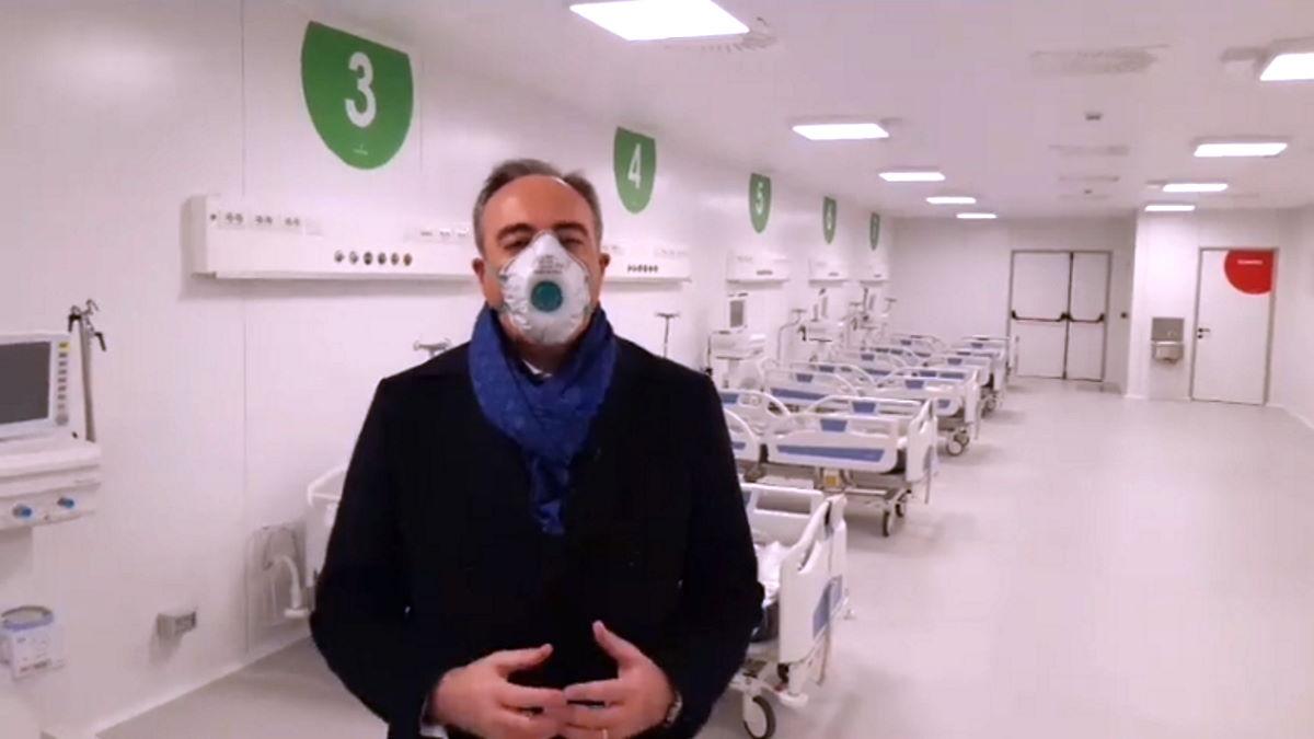 Fontana inaugura l'ospedale per il Covid da 350 posti letto che partirà tra una settimana con 24 posti disponibili