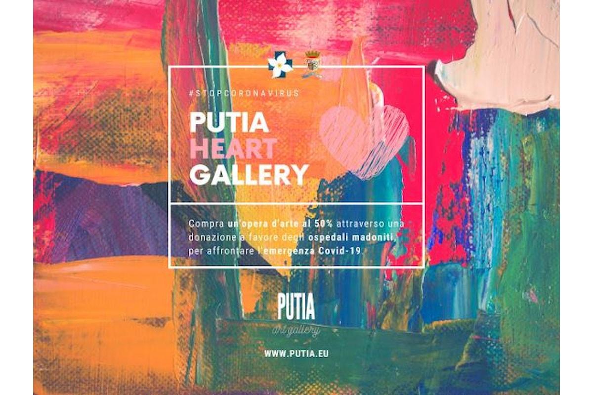 20 artisti e PUTIA art gallery di Castelbuono in favore degli ospedali di Cefalù e Petralia Sottana.