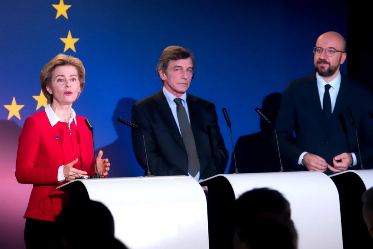 La dichiarazione di Sassoli, Michel e von der Leyen per la Festa dell'Europa