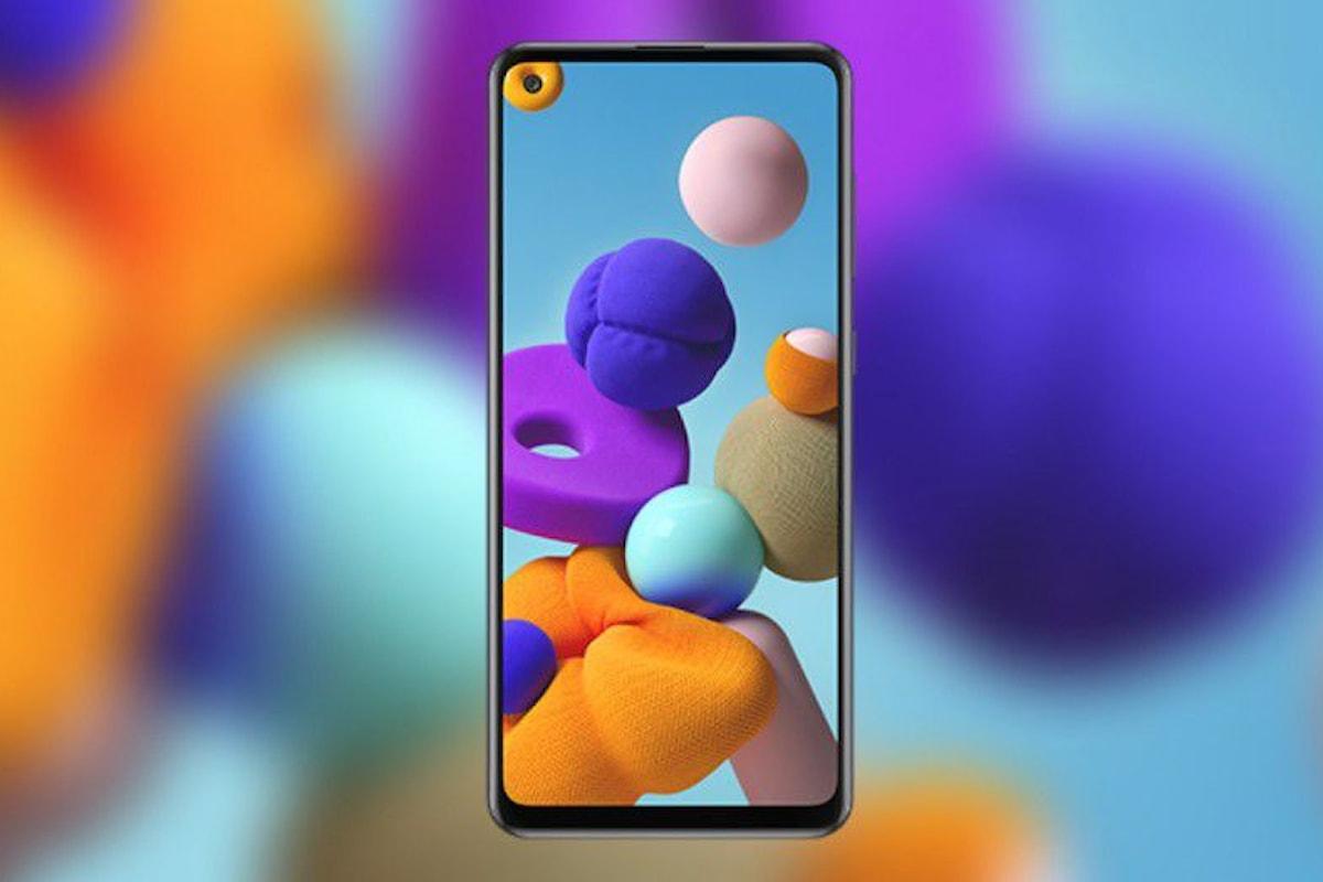 Samsung Galaxy A21s annunciato ufficialmente: Infinity-O Display nella fascia bassa di Samsung