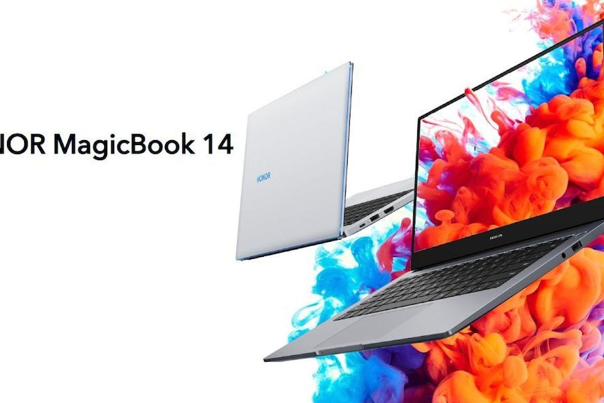 HONOR MagicBook 14 adesso può essere acquistato anche in Italia ad un prezzo molto interessante