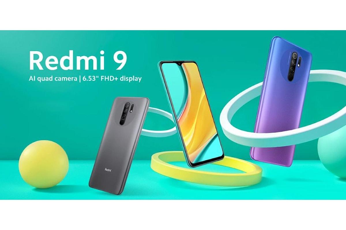 Redmi 9 arriva ufficialmente in Italia e va ad aggredire la fascia bassa del mercato (senza delle vere rinunce)