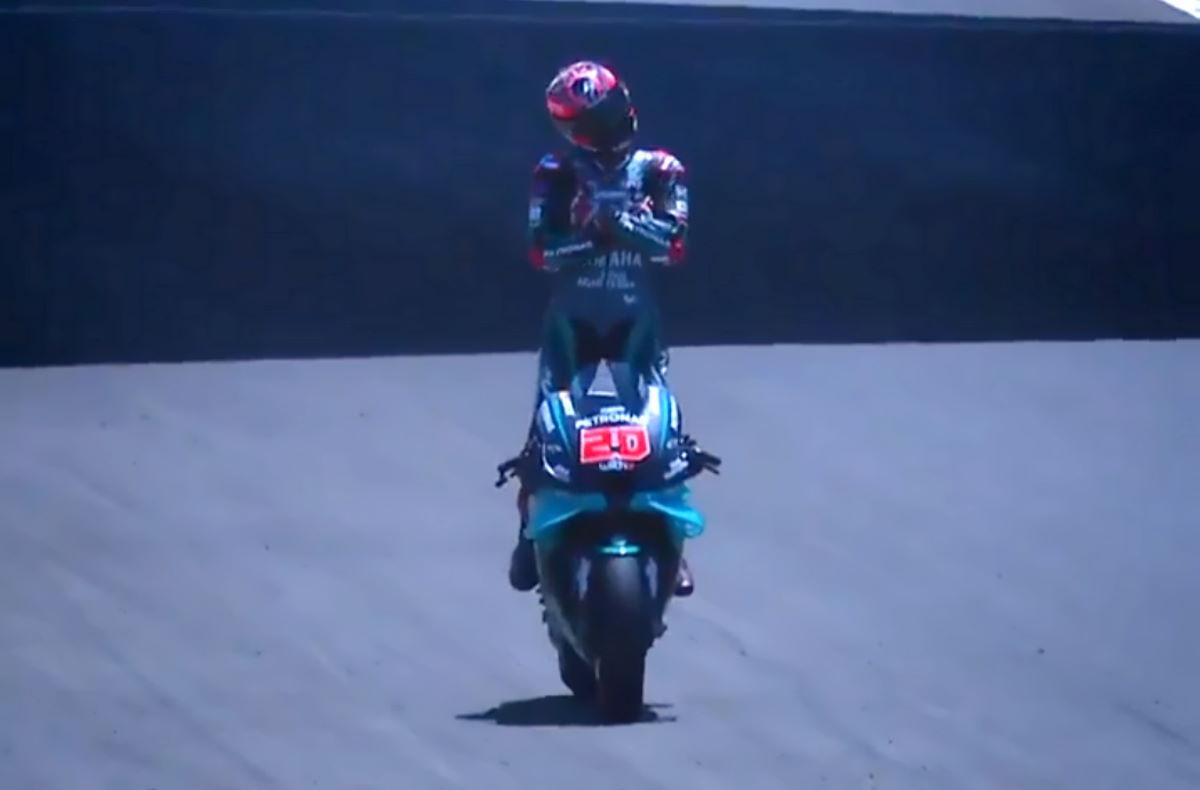 MotoGP, Quartararo di nuovo primo anche nel GP dell'Andalusia dove Valentino Rossi torna sul podio