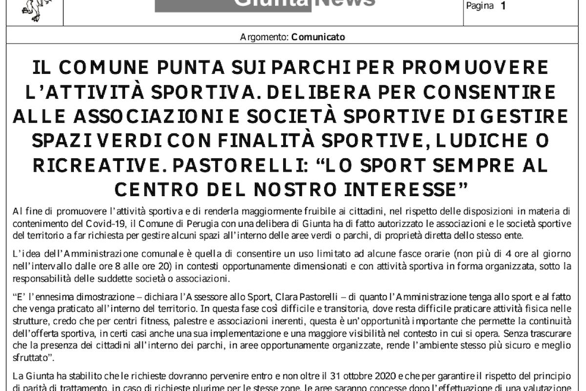 LE PALESTRE NEI PARCHI E AMORE PER LO SPORT! Eccoci qua! Il Comune di Perugia, per quanto riguarda la sicurezza degli spazi verdi, è arrivato alla frutta!