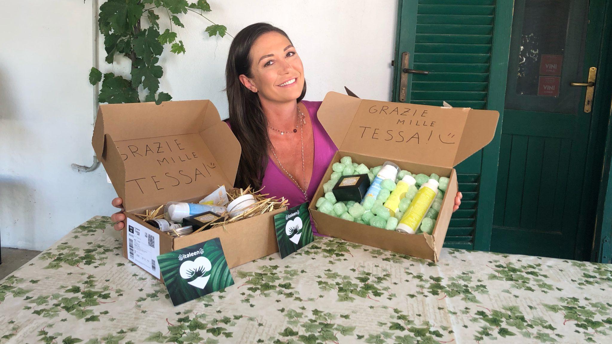 Italeen: Tessa Gelisio di Ecocentrica presenta la beauty box Mari & Monti