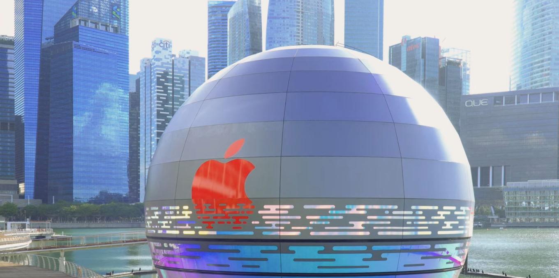 Apple apre a Singapore un negozio iper tecnologico, il primo negozio galleggiante