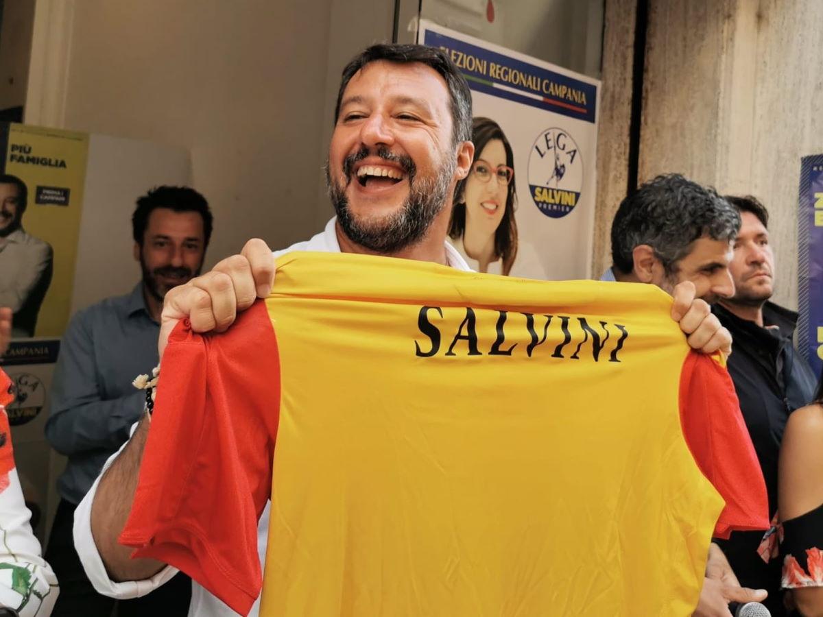 I tifosi del Benevento non hanno apprezzato la mascherata di Salvini