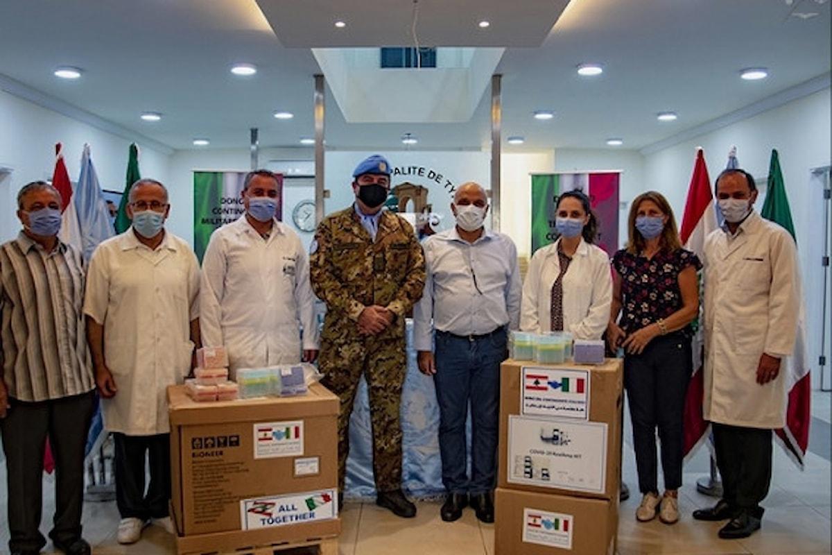 Shama: militari italiani donano apparecchiature per analisi tamponi a ospedali