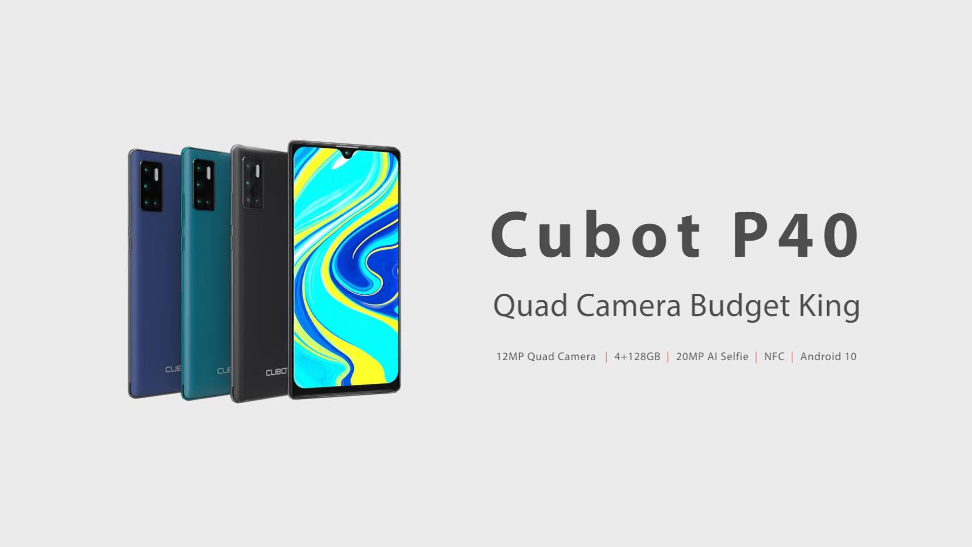 CUBOT P40: smartphone low-cost con NFC e tanta memoria interna