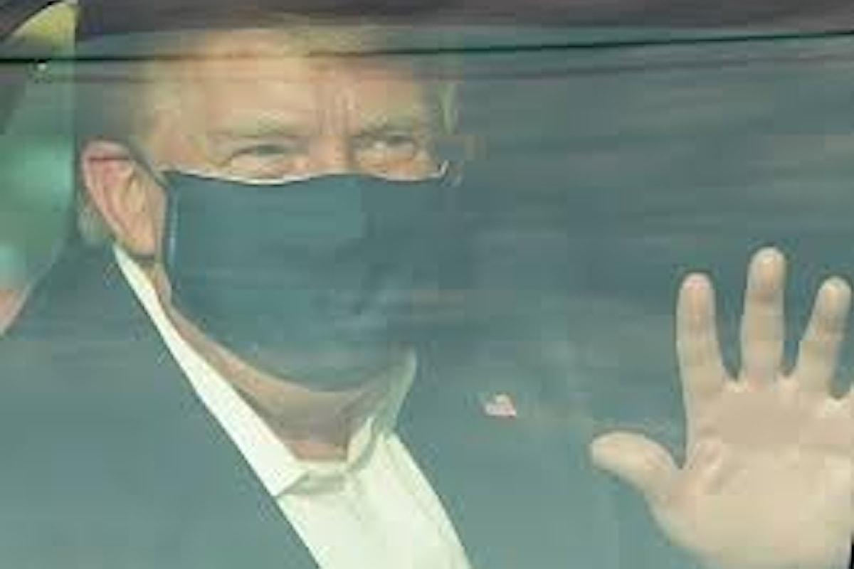 Trump annuncia che lascerà l'ospedale: Mi sento molto bene, non abbiate paura del virus