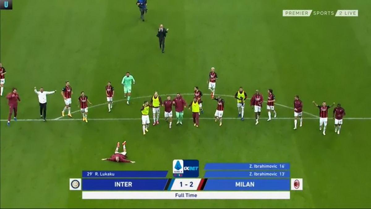 È il Milan ad aggiudicarsi in trasferta il derby con l'Inter con il risultato di 1-2