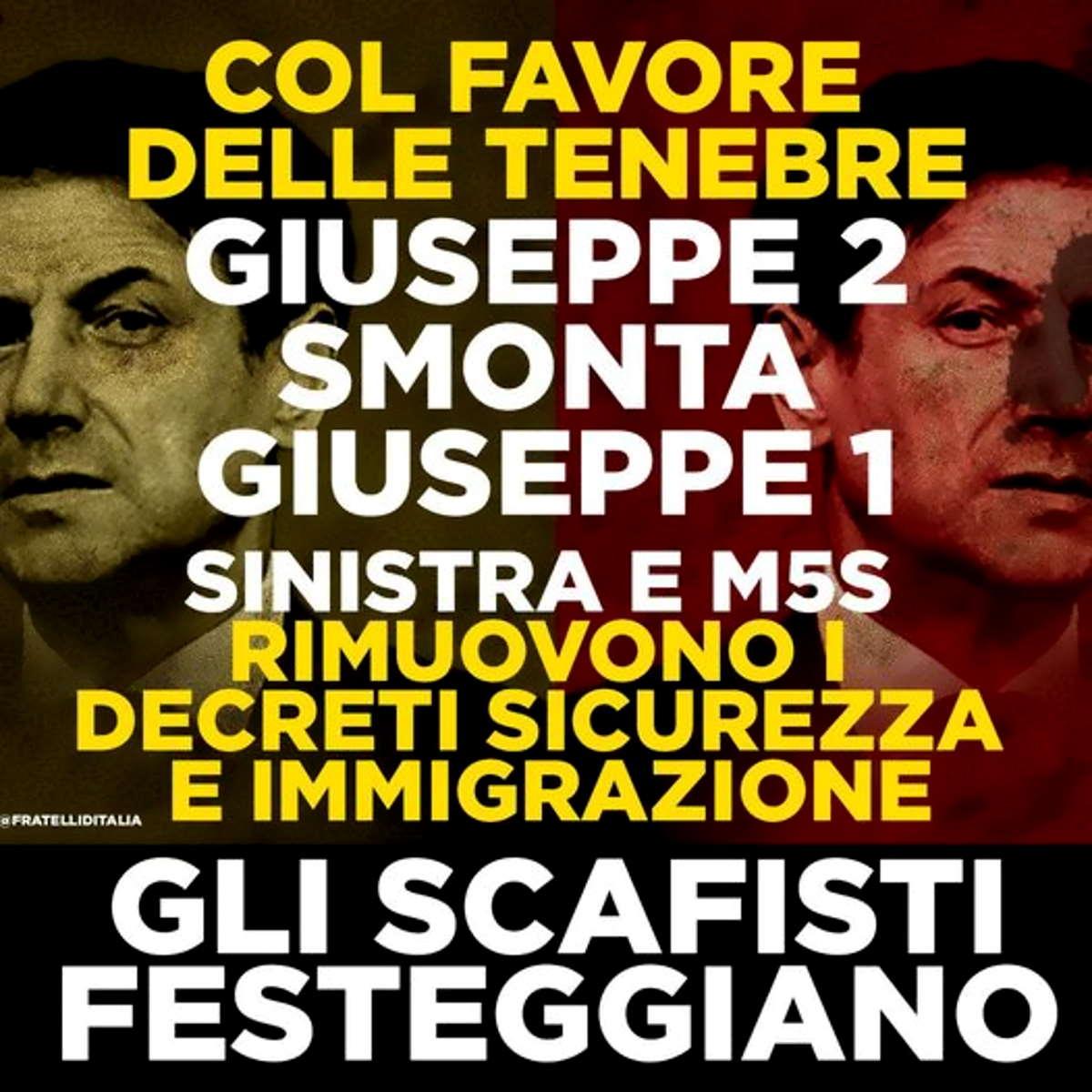Il Governo rivede i decreti Sicurezza di Salvini e i sovranisti sbottano