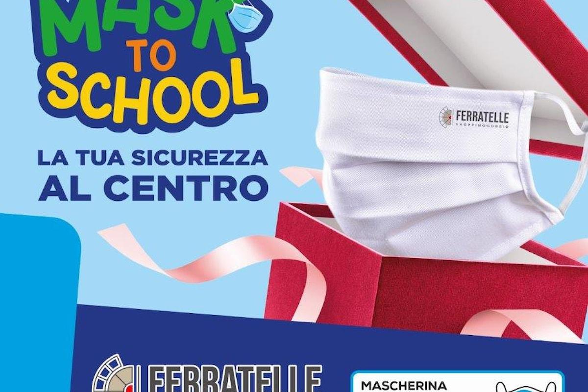 """Gubbio - Il Centro Commerciale Ferratelle presenta """"MASK TO SCHOOL"""""""