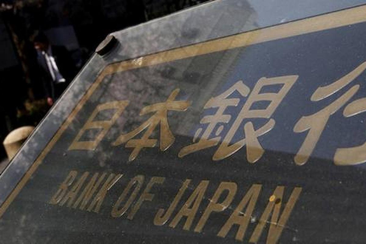 Politica monetaria, la BoJ preannuncia un cambiamento tra due mesi