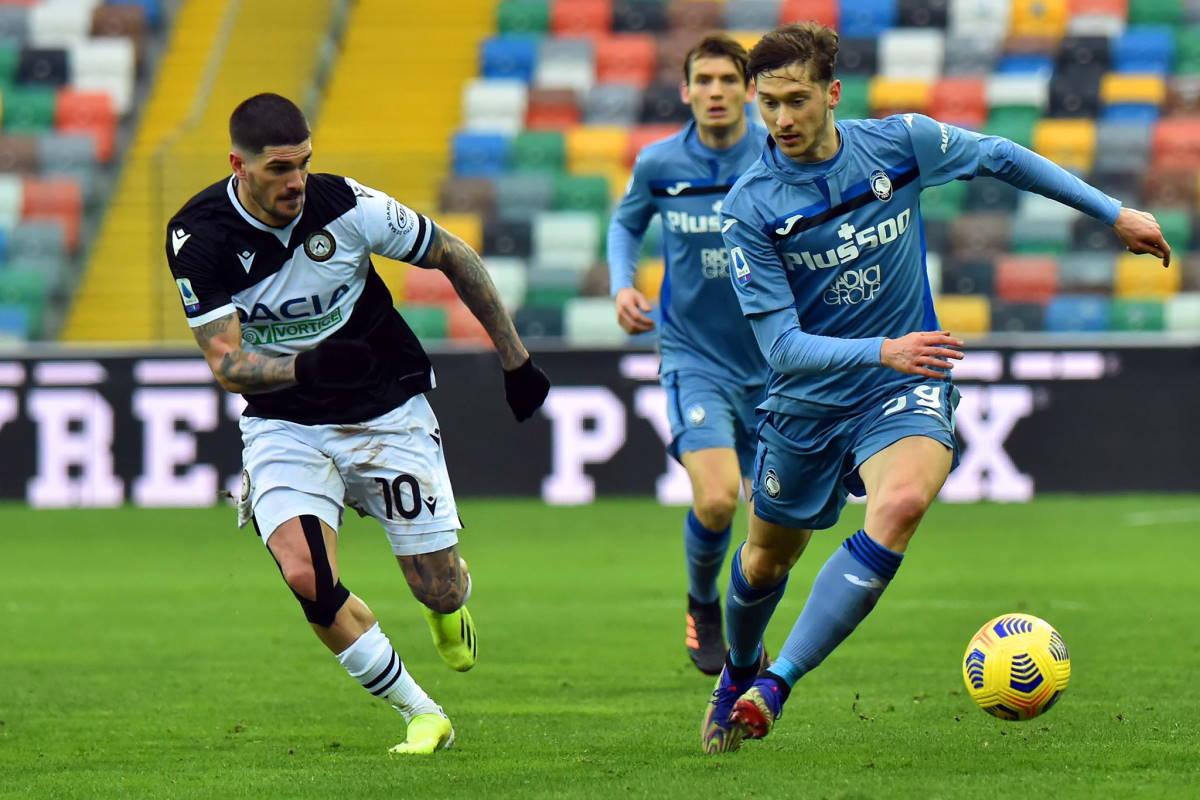 Serie A: Udinese e Atalanta hanno pareggiato 1-1 nel recupero della 10.a giornata
