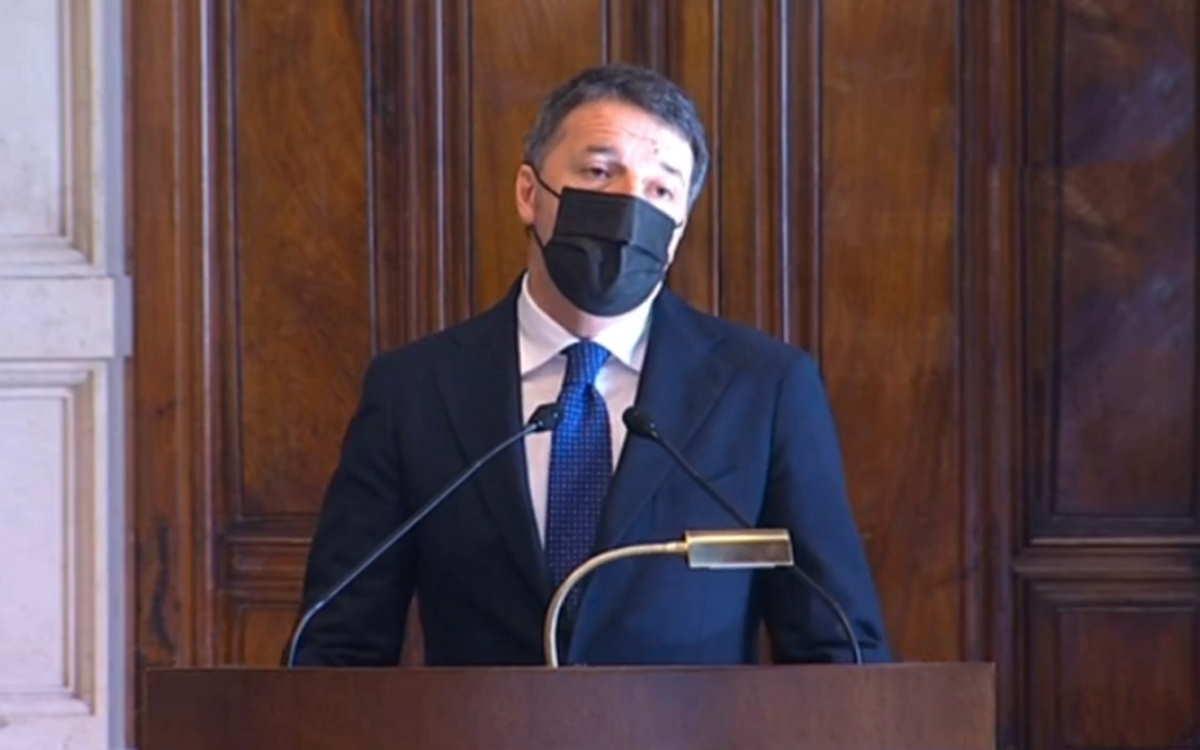 L'appoggio a Draghi dell'omino di burro, Matteo Renzi