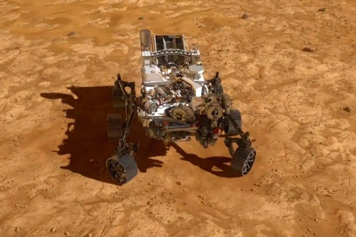 Le fasi dell'atterraggio del rover Perseverance su Marte (video)