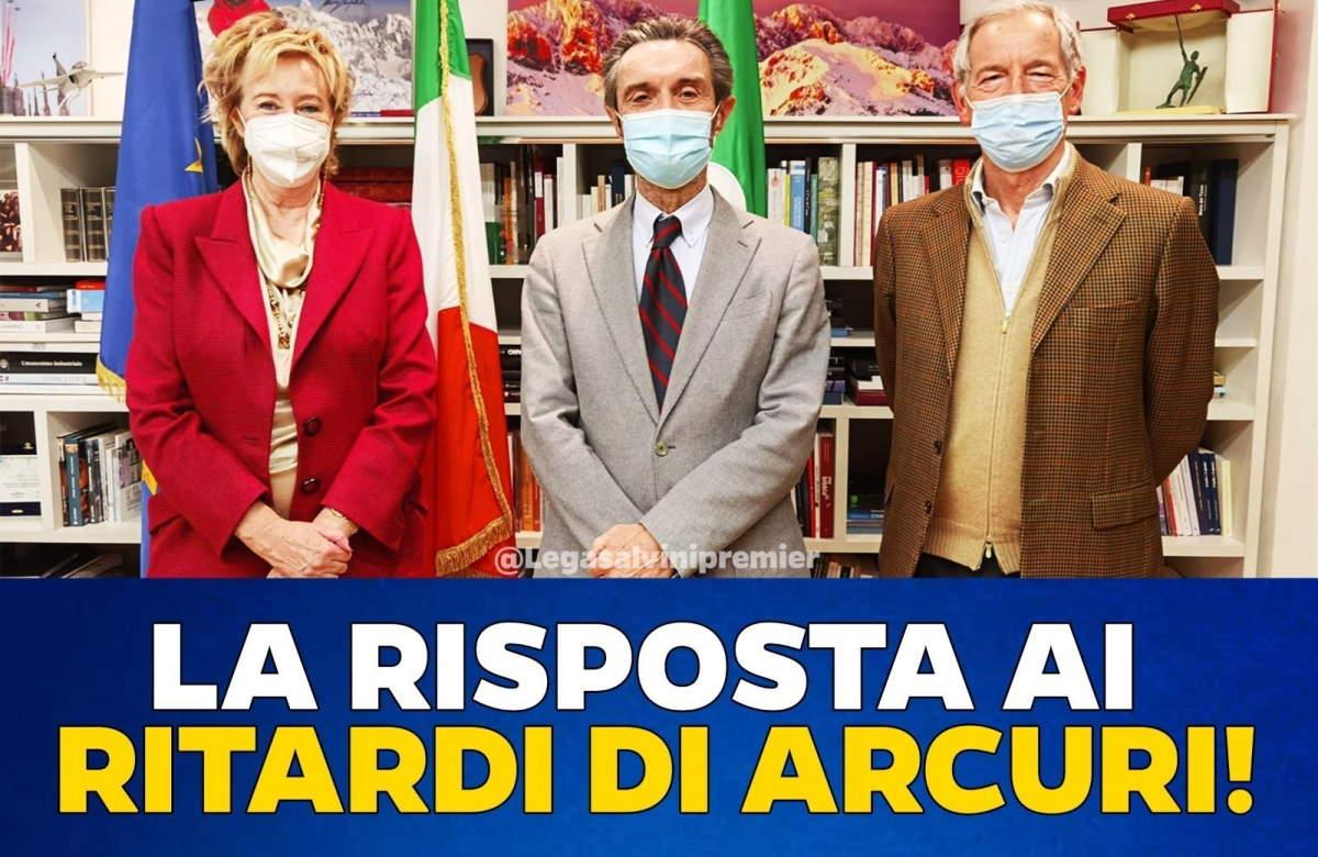 Disastro vaccinazioni in Lombardia: lo scaricabarile di Fontana e l'amnesia di Salvini