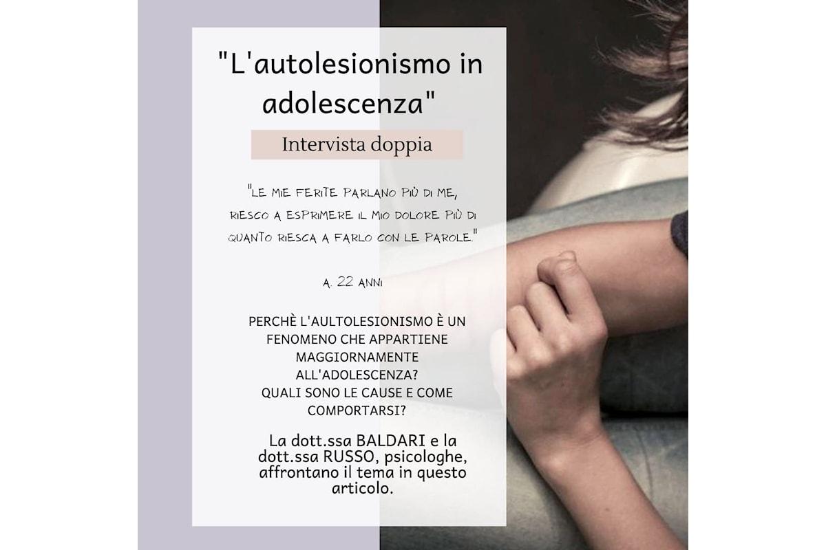 L'autolesionismo in adolescenza: la parola alle psicologhe