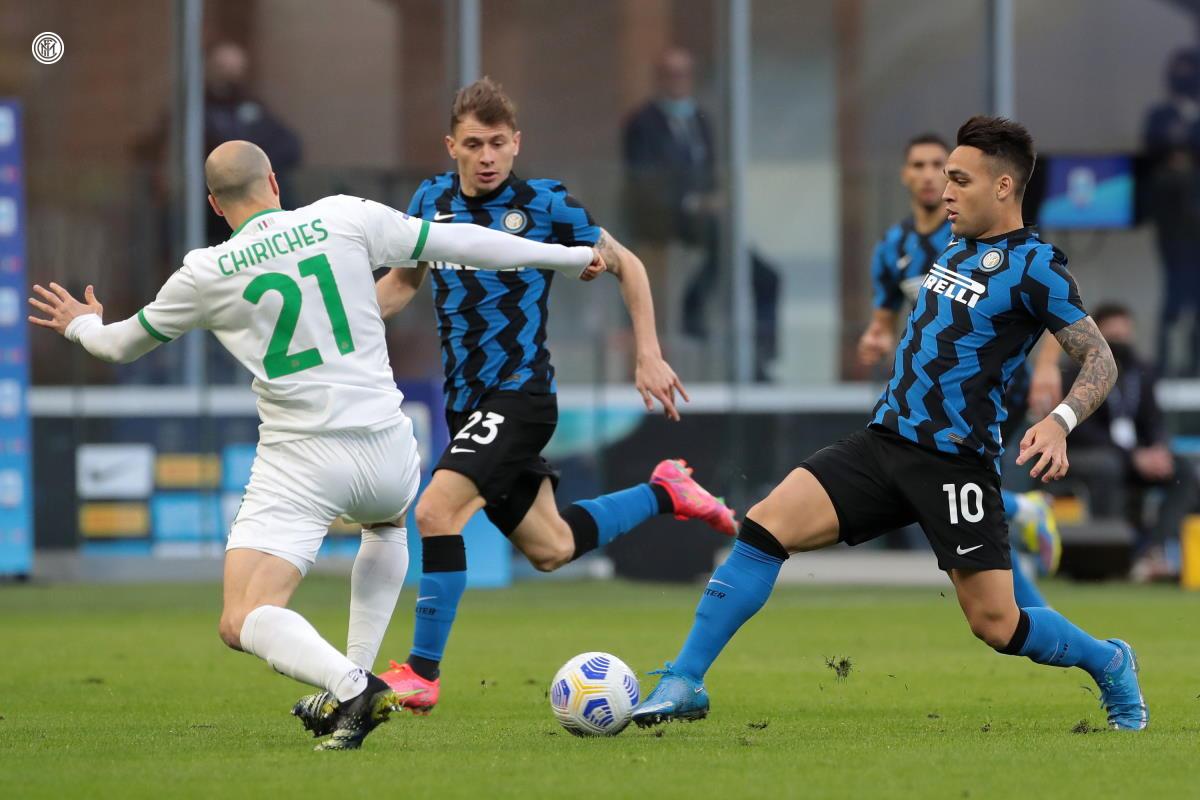 Serie A, Lukaku e Lautaro Martinez regalano la vittoria all'Inter, 2-1 sul Sassuolo, che va a +11 sul Milan