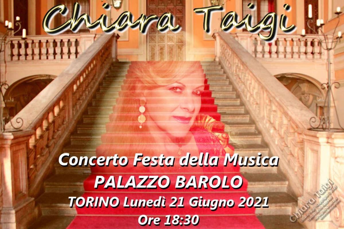 """CHIARA TAIGI - Concerto """"Festa della Musica 2021"""" a Palazzo Barolo – piano M° Genòt - Torino"""