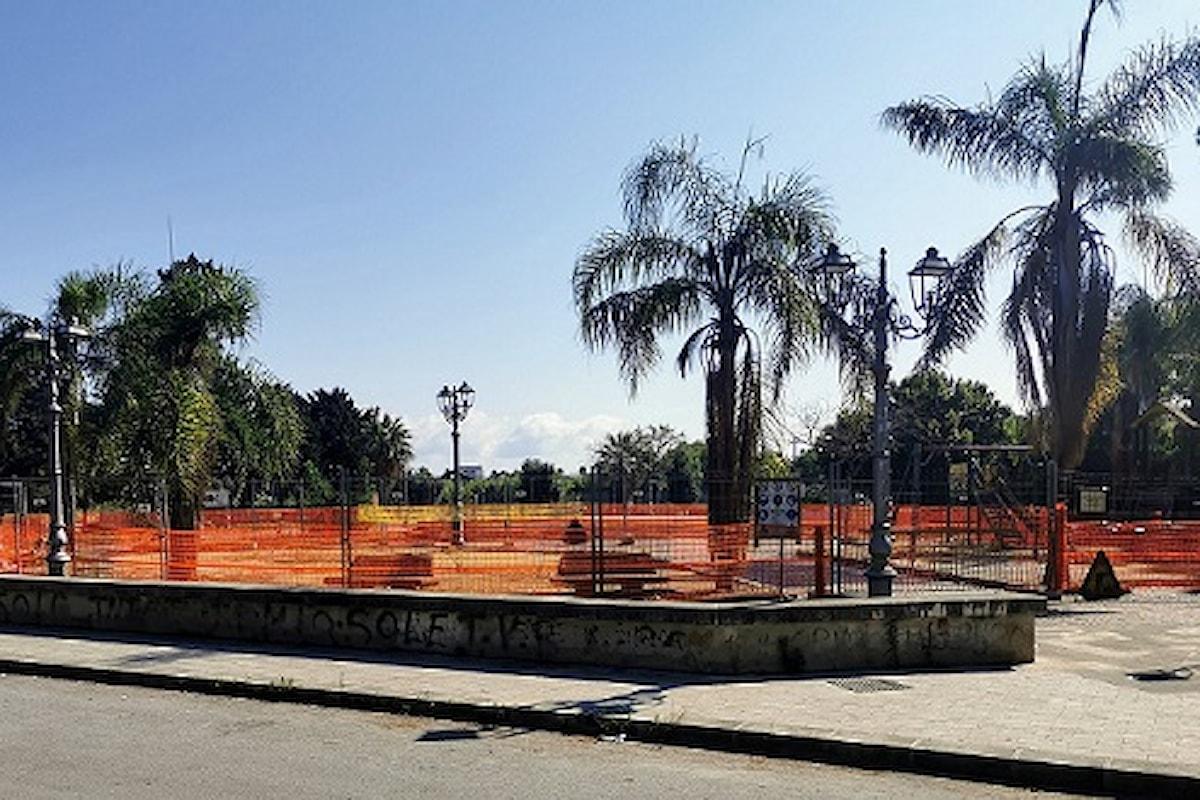 Milazzo (ME) – Avviati i lavori di riqualificazione Parco giochi in piazza Impastato