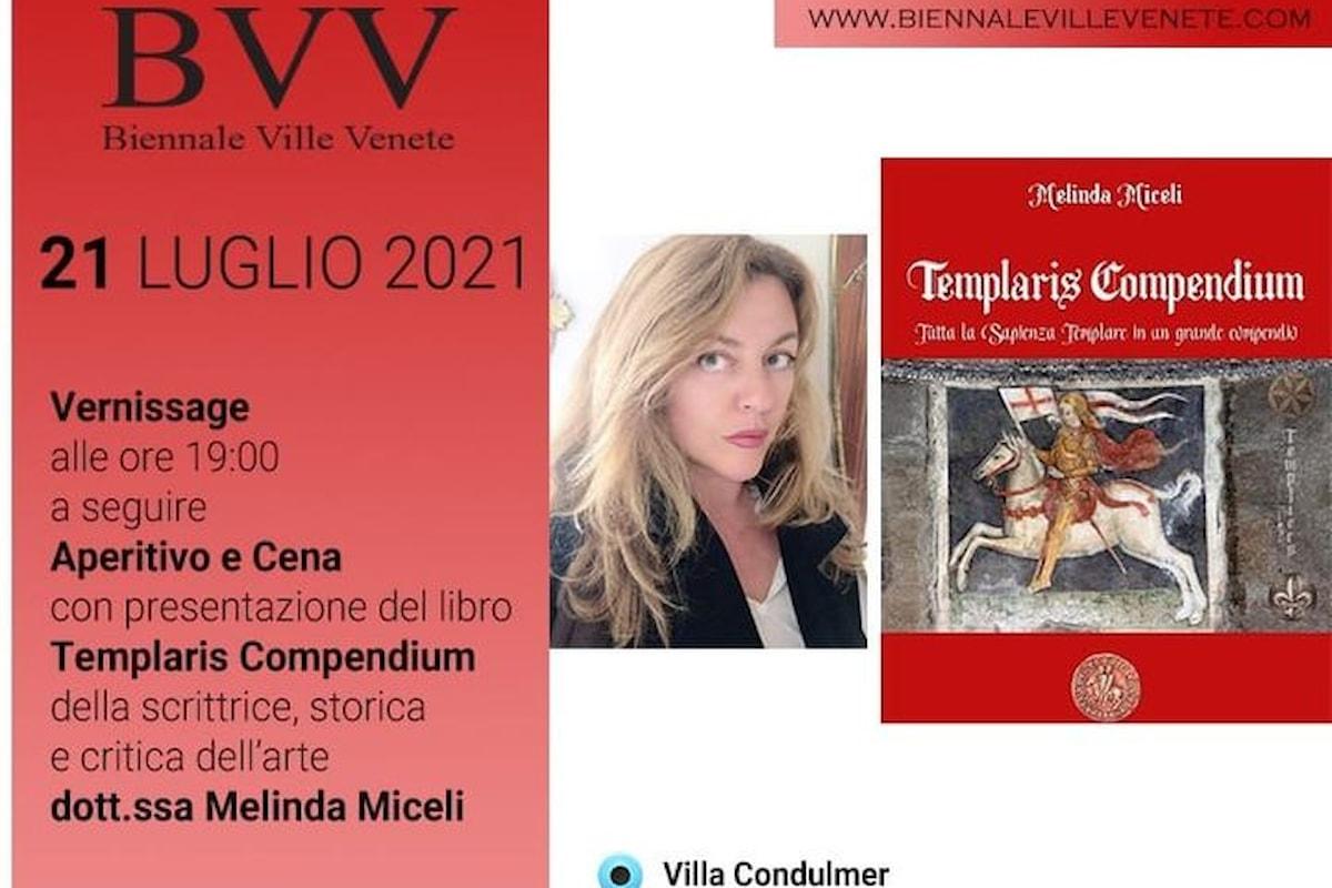 La prestigiosa presentazione di Templaris Compendium di Melinda Miceli a Villa Condulmer