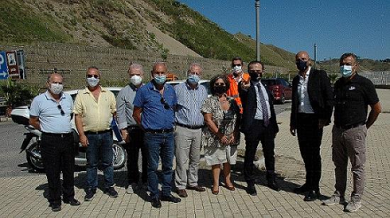 """Messina - Il Sindaco Metropolitano consegna i lavori di messa in sicurezza della SP 43 bis """"Panoramica dello Stretto"""""""