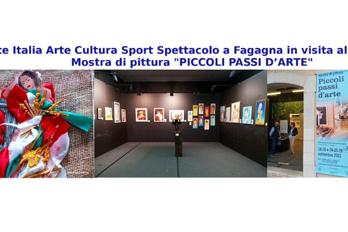 """Rete Italia Arte Cultura Sport Spettacolo in visita alla 8^ edizione della mostra di pittura """"Piccoli Passi d'Arte"""" a Fagagna UD"""