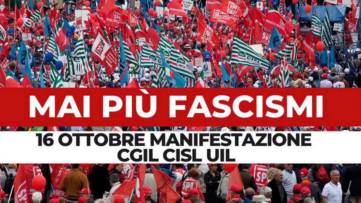 Maurizio Landini: quello contro la Cgil è un atto fascista e squadrista